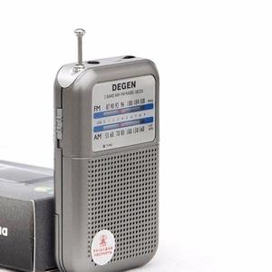 Image 2 - راديو DE333 من JINSERTA جهاز استقبال FM AM مع مقبض صغير بحجم الجيب قابل للحمل مع شريطين راديو إف إم مسجل راديو عالي الحساسية
