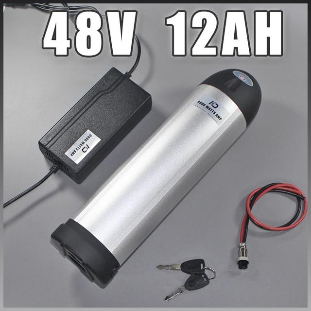 Water bottle 48V 1000W Ebike Battery 48V 12AH Kettle Lithium ion Electric bike 48V Battery Free EU US Duty tax