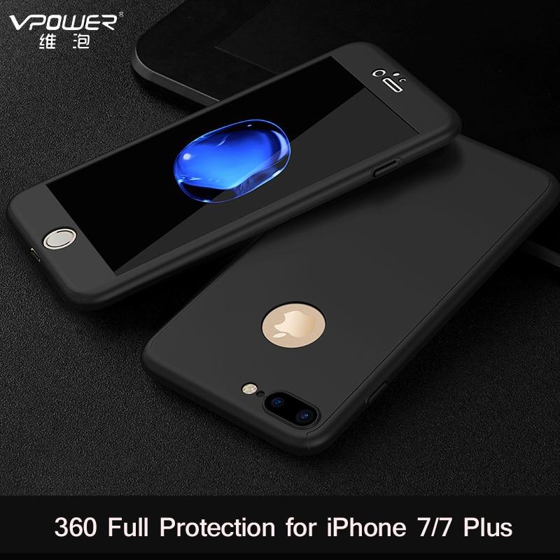 Para iphone 7 PLUS VPOWER Ultra Thin 360 full case + Protector de - Accesorios y repuestos para celulares - foto 5