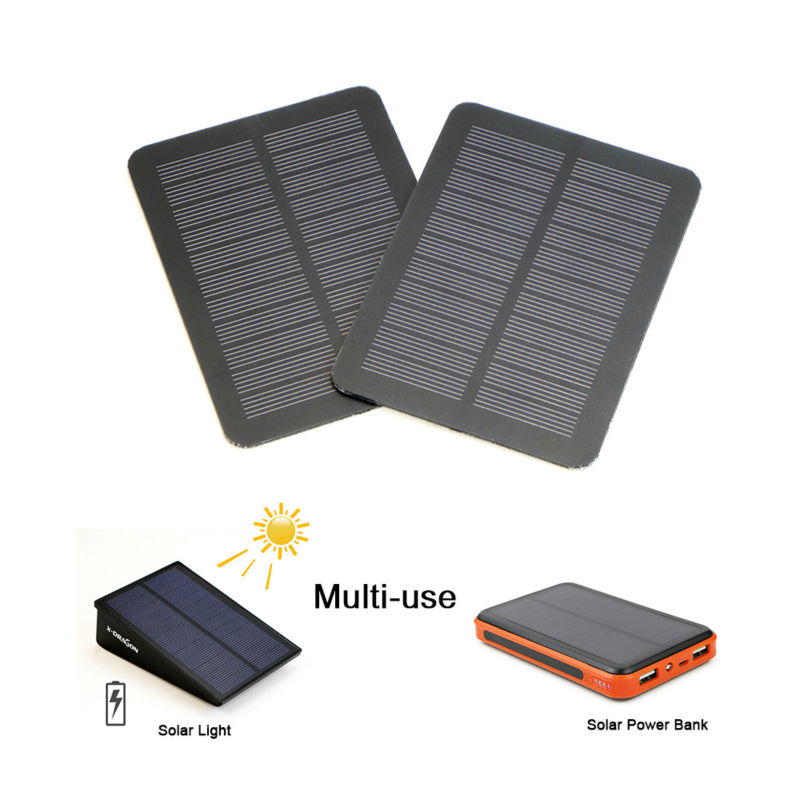 X-DRAGON Mini Portable Solar Panel 5V 1.2W Monocrystalline Solar Panel 129*95mm Solar Charger for Phones and other 5V devices.