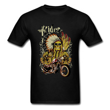 Indian Rider Motorcycle Indonesia Aborigine Vintage Fathers T Shirt Fitness Fashion Clothing Motorbike Cool Tshirt Mens