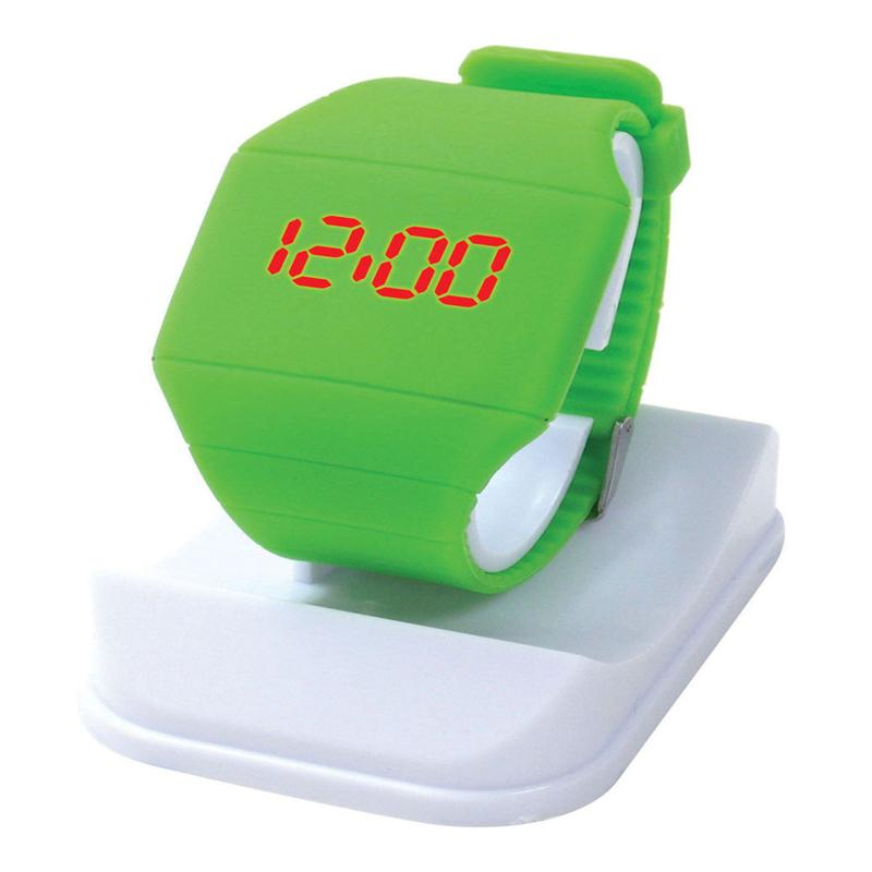 Tangerine Jelly LED Silicone Touch Screen Watch Digital Candy Rubber Toy Fashion Accessories