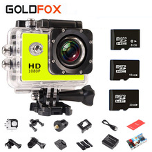 Outdoor 720P HD Mini Video Photo Camera 30M Go Waterproof Pro Style Helmet Bike Car Sports Camcorders CAM With Retail Packing