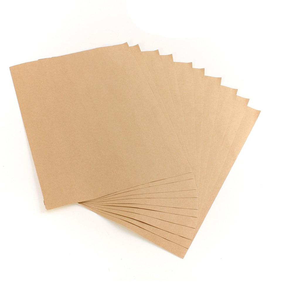 10 Stücke Kraft Aufkleber Papier Wärme Toner Transfer A4 Selbstklebende Braun Kraft Druckunterlagen Etikettenpapier Für Laser Inkjet Drucker Drucker