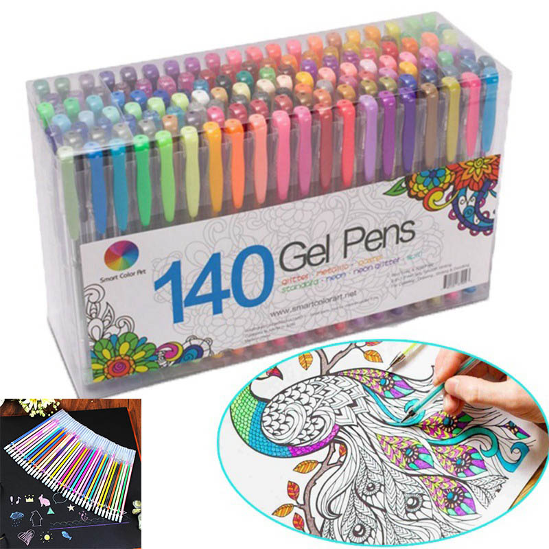 24/48 pcs/lot Party Fluorescent Gel Pen Refills Multi-color Watercolor Brush Pen Refills For Colorful Paintings Gift(China)
