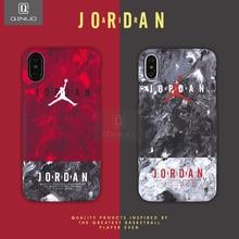 QINUO Ince NBA Mat iphone için kılıf X XR XS Max 7 8 Artı Sert Plastik arka kapak Için Jordan iphone 7 8 6 6 s Artı Aydınlık Kap...