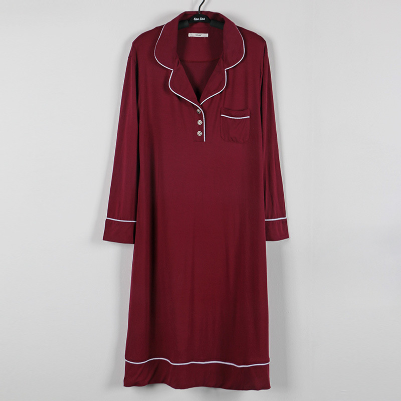 long sleeve modal cotton sleepdress (6)