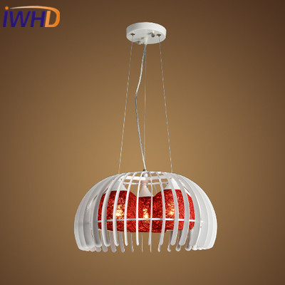IWHD Nordic StyIe ron Led Hanging Lamp Modern Fashion Color Ball Pendant Light Fixtures Home Lighting Luminaire Suspendu iwhd modern luminaire suspendu iron led pendant light fixtures dining kitchen hanging lamp home lighting creative design lamp