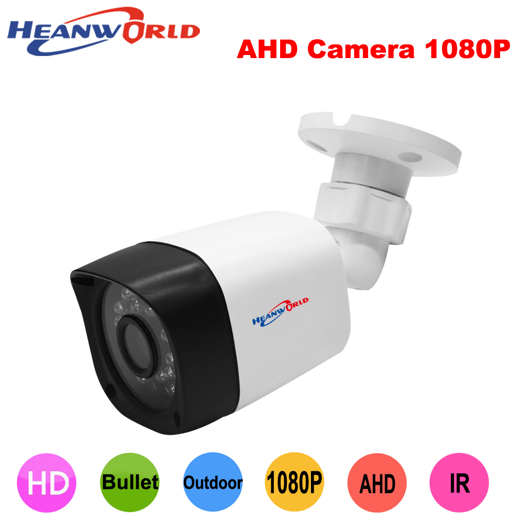 Heanworld 1080P mini ahd camera hd cctv camera outdoor  security camera 2.0MP IR night vision surveillance camera 2.8mm lens