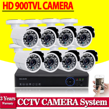 8ch 960h cctv video surveillance camera security system with 8pcs 900tvl outdoor camera dvr nvr kit hdmi 1080p 8 channel ahd dvr