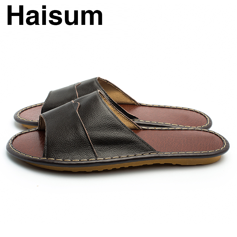 Overseas warehouse---Men's Slippers Spring And Summer genuine Leather - Men's Shoes - Photo 3