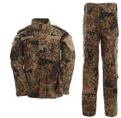 Outdoor Deutsch flecktarn camo armee militär uniform camouflage anzug paintball airsoft kleidung kampf hosen + tactical Hemd Set