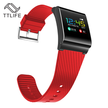 TTLIFE OLED Сенсорный экран сердечного ритма фитнес-трекер Водонепроницаемый IP67 тяжести Сенсор 0.95 дюймов Bluetooth 4.0 браслет