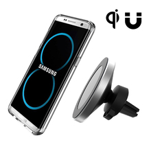 QI Standard Magnetic Car Phone Wireless Charger Dashboard Air Vent Charger For Iphone 8 Iphone X Samsung S8 S8 Plus Note 8