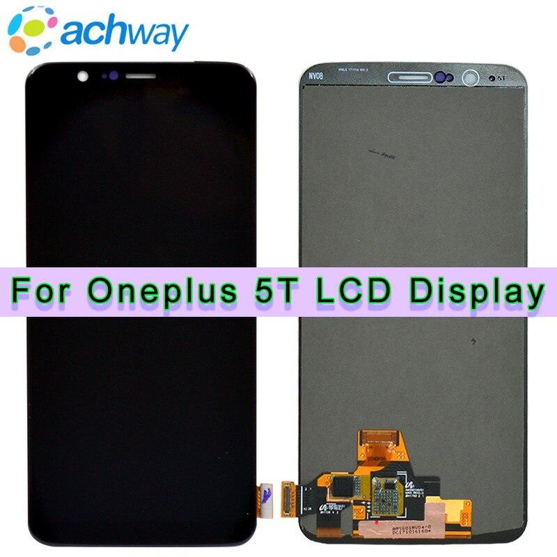 100% Testado Oneplus 5 T Display LCD Tela Painel de Toque Completa Assembleia Oneplus 5 T A5010 Cinco 5 T LCD Exibição digitador + Ferramentas
