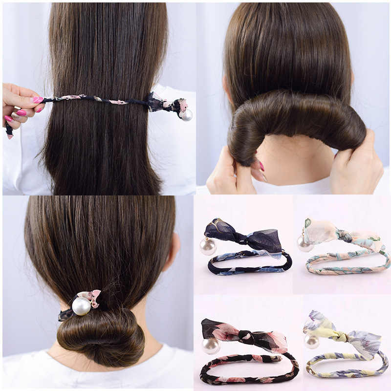 New Women Donuts Bud Head Band Ball French Twist Magic DIY Tool Hair Bun Maker Sweet Dish Made Hair Band Hair Accessories