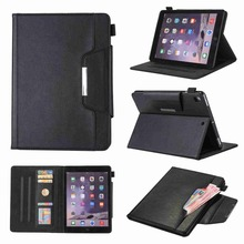 Business PU Leather Cover For Apple ipad air 1 air 2 pro 9.7 2017 2018 9.7 Smart Stand Protective Tablet Case+Stylus Pen+Film.