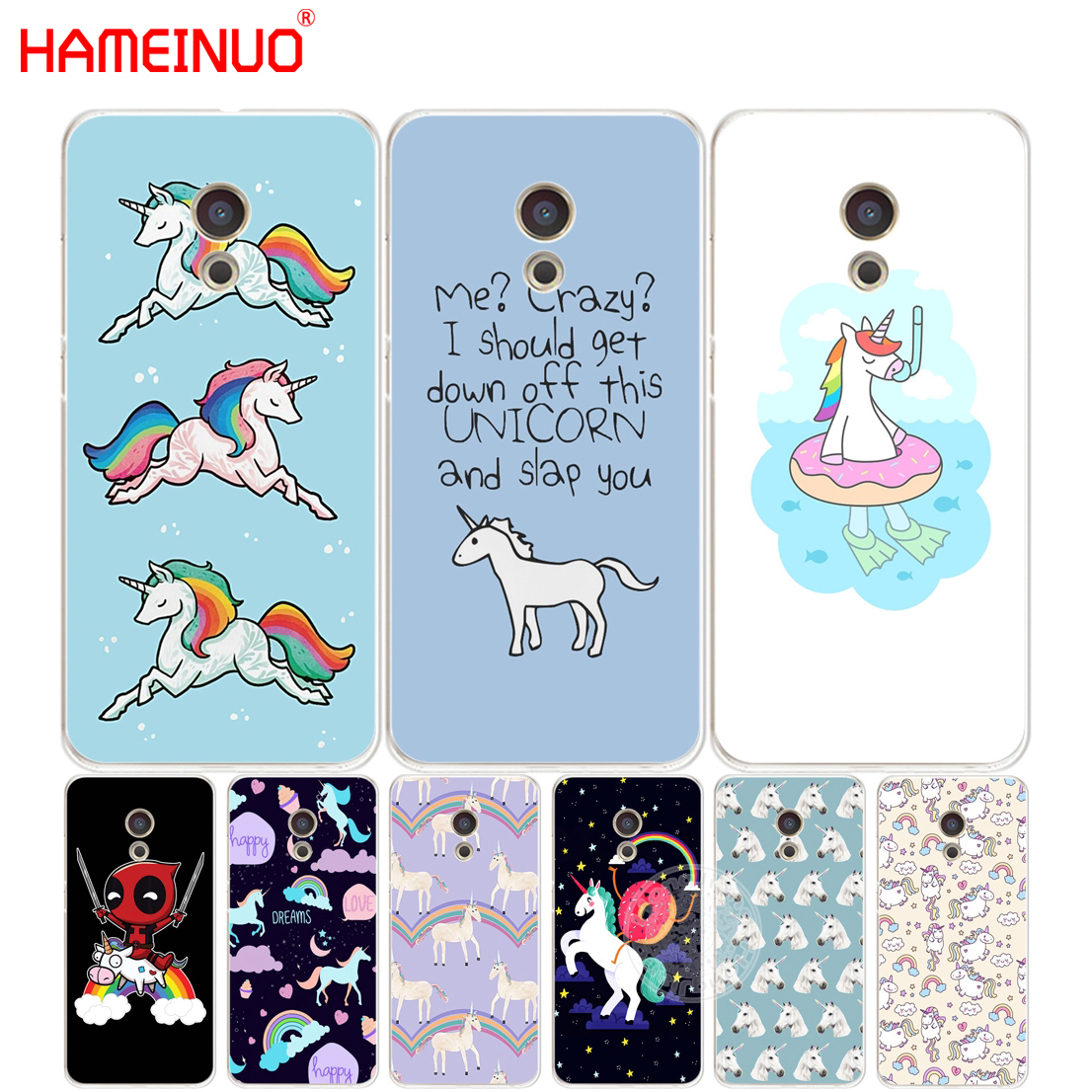 HAMEINUO unicorn horse Cover phone Case for Meizu M5 M5S M6 M2 M3 M3S MX4 MX5 MX6 PRO 6 5 U10 U20 note plus ...