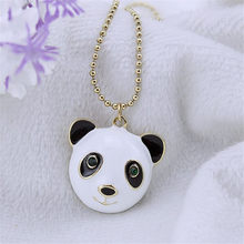 Fashion necklace 2014 Fashion new pure and fresh and restore ancient ways contracted panda head long pendant necklace, 140707(China)