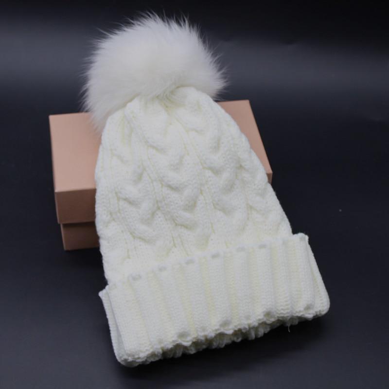 FURANDOWN Tülkü Kürk Pompom Şapka Qadınlar Qış Qapağı Lady - Geyim aksesuarları - Fotoqrafiya 5