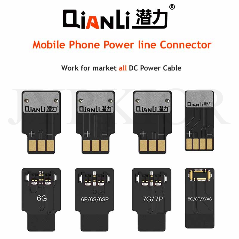 Jyrkior 4Pcs/Set Qianli For IPhone 6/6P/7/7P/8/8P/X/XS Mainboard Battery Maintenance Buckle DC Power Supply Test Cable Connector