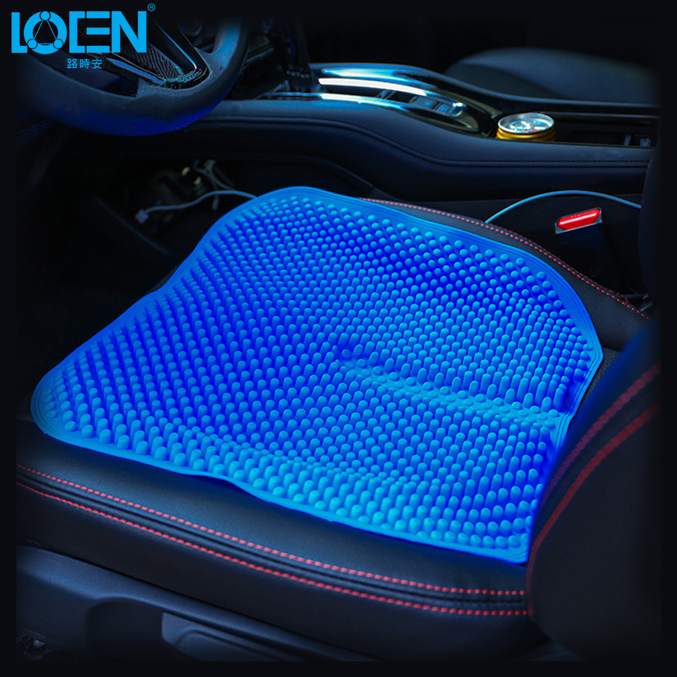Car Seat <font><b>Cushions</b></font> Massage High Memory Silicone Breathable Mesh Silica Gel Auto Car Seat Covers For Toyota Jetta Hyundai Ford Kia