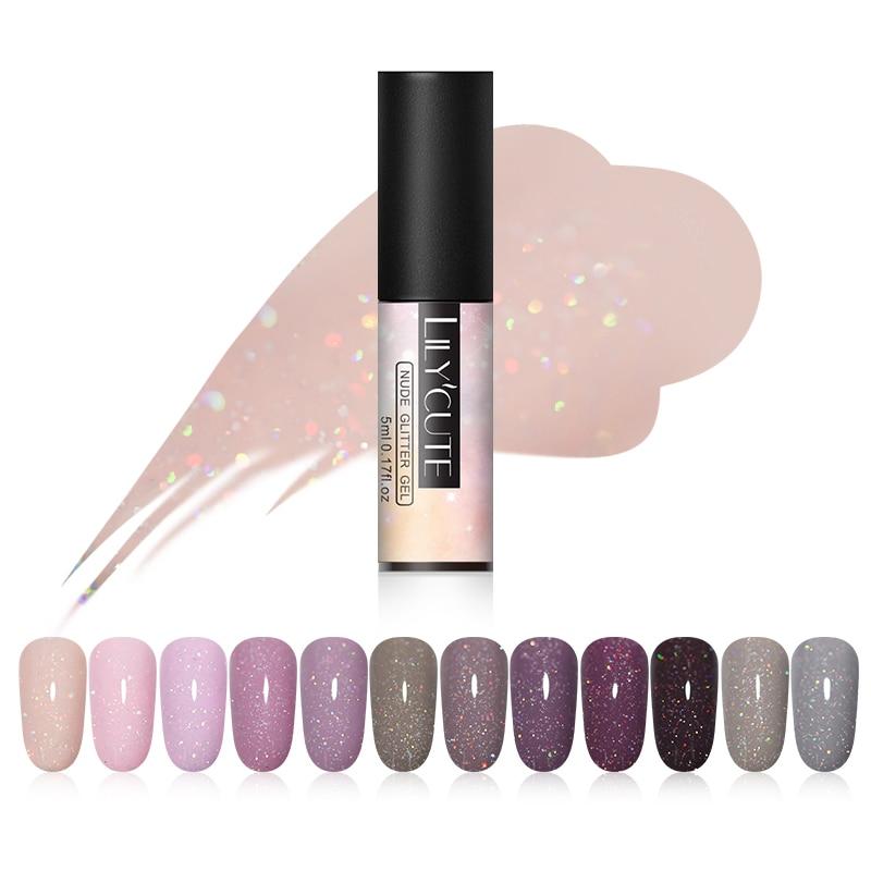 LILYCUTE 5 мл генный цветной гель голографический лак блестками UV Soak Off длительный гель для ногтей Nail Art Лаки