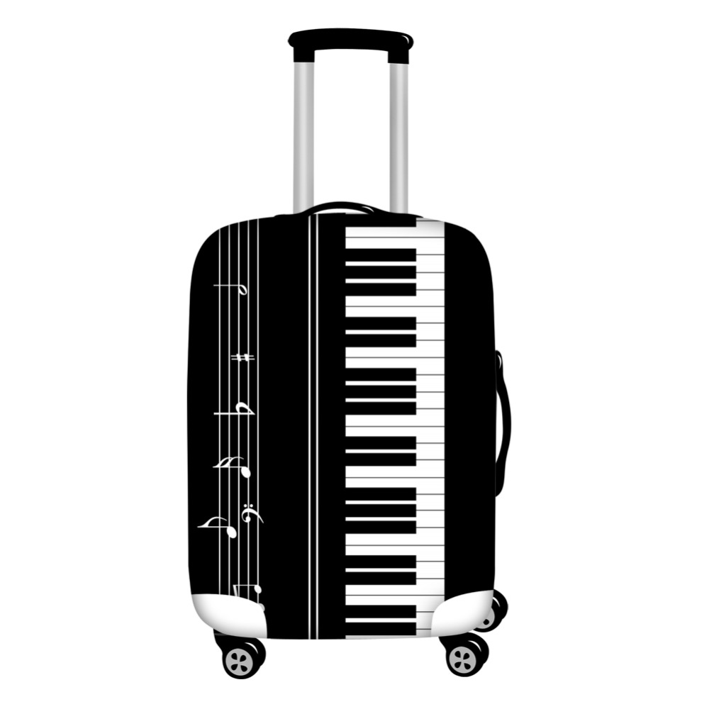 FORUDESIGNS 2019 Travel Thicken Elastic Luggage Protective Cover, Piano Key Suitcase Cover Apply To 18-30inch Travel Accessories