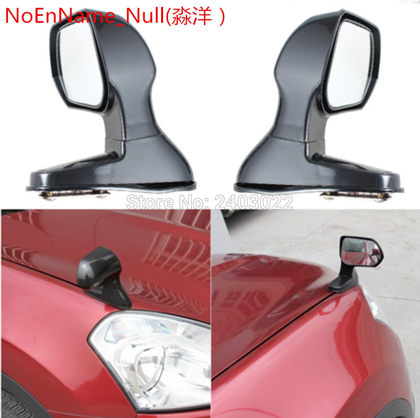 1 Pair Black Color Wide Angle Rear Mirrors Car Blind Spot Square Side View Flat Mirror Universal Side Rear View Mirror