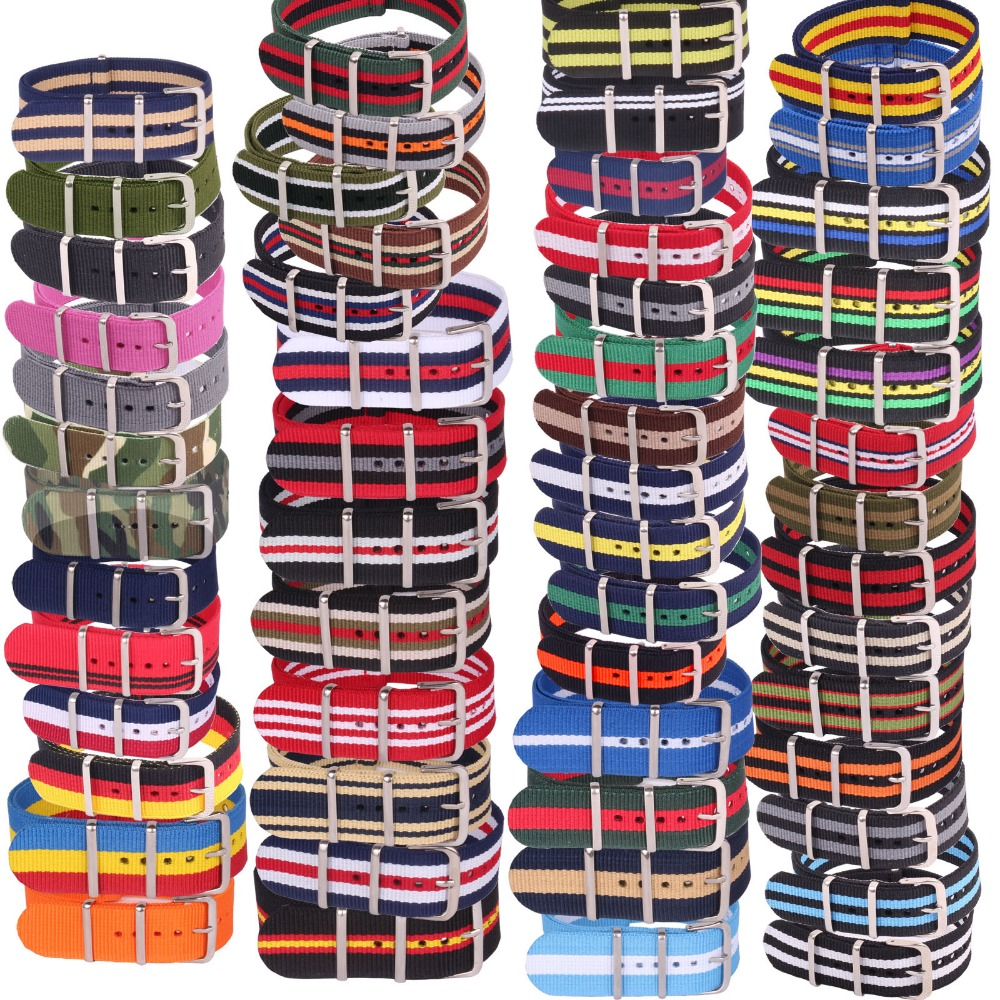 10pcs Wholesale Lot Stripe Retro  22 mm Strong Military Army nato fabric Nylon Watch Woven Straps Bands Buckle 22mm watchbands  wholesale stripe cambo solid black watch 22 mm multi color army military nato fabric nylon watchbands strap bands buckle 22mm