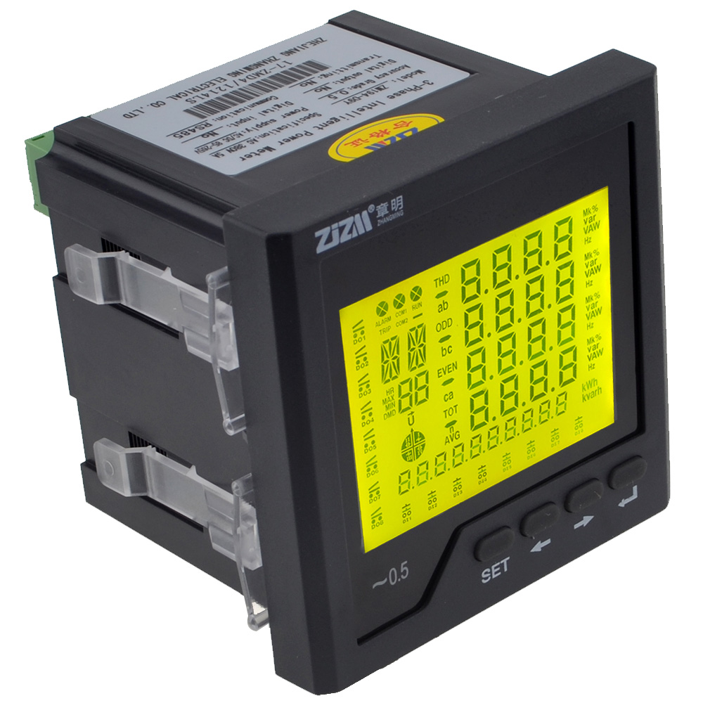 Multifunction Intelligent Digital LCD Display Three phase Network Power Meter Ammeter with RS485 Communication Function 12003222