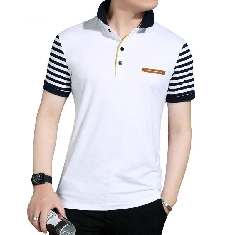 DIMUSI New Mens Polo Shirt Fake Pocket Trend Slim Fit Short Sleeve 95%cotton Polo Mens Clothing Summer Men Polo Shirt 5XL,YA109