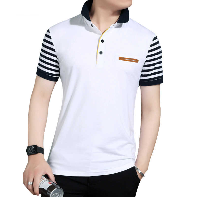 DIMUSI Nieuwe Heren Polo Shirt Fake Pocket Trend Slim Fit Korte Mouwen 95% katoenen Polo Heren Kleding Zomer Mannen Polo shirt 5XL, YA109