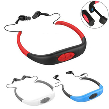 IPX8 Waterproof Sport Stereo 8GB Underwater Neckband MP3 Player with FM Radio Rechargeable MP3 Player For Swimming Surfing O18