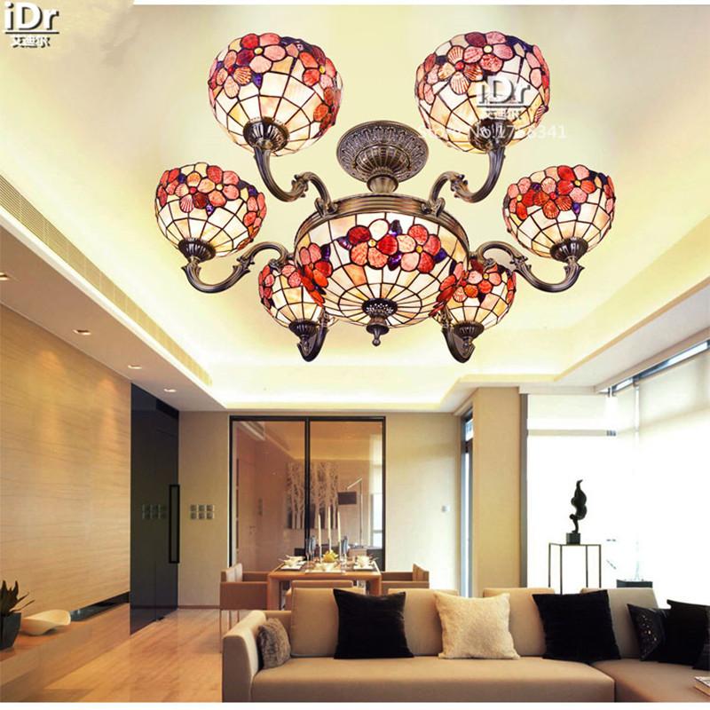 Multi Lampe Luxus Scheinwerfer Shell Blume Reich Mediterrane Villa Wohnzimmer Europischen Anti Lange