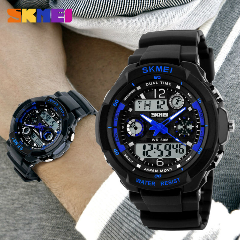 SKMEI Brand Quartz Digital Watch Men Sports Watches Clock Reloj 50m Watwrproof Relojes Relogio Masculino Mens Wristwatches 0931 hoska hd030b children quartz digital watch