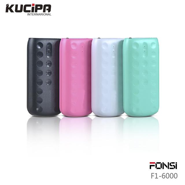 100% original fonsi real 4400 mah de backup de energia portátil banco do poder carregador de bateria de backup para iphone6s samsung telefone móvel