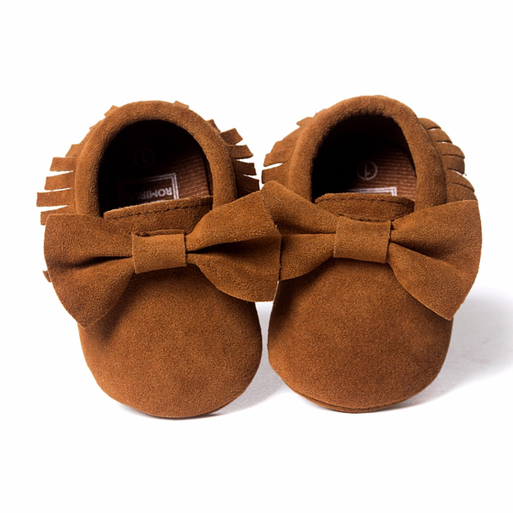 Hot-Sale-Baby-Shoes-PU-leather-Solid-tassel-Frosted-Butterfly-knot-Newborns-Moccasins-toddler-infant-Girl-Boy-First-Walker-1