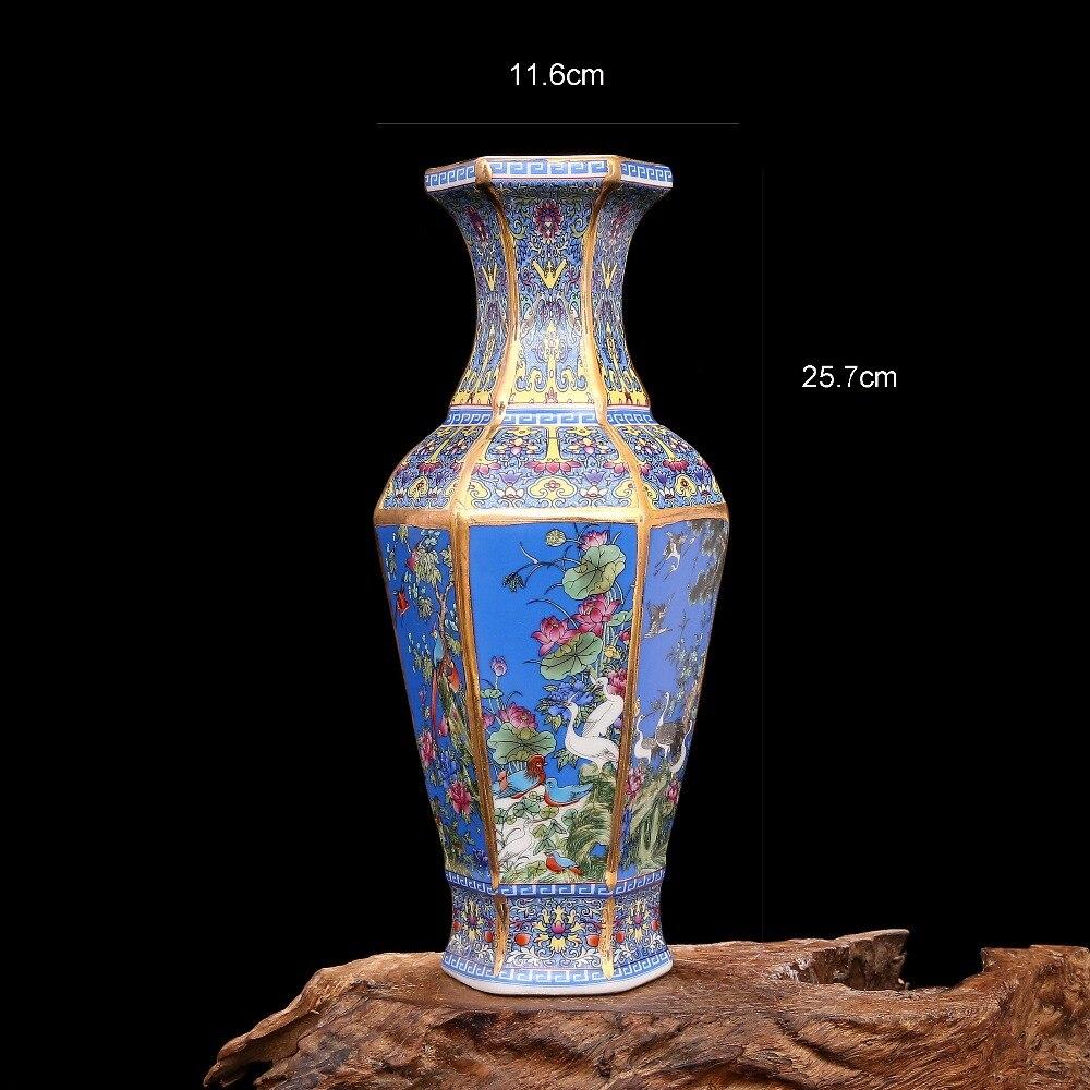 China Antique Porcelain QING YONGZHENG colour enamels Square Flower bird  vase