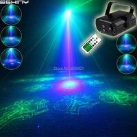 ESHINY Remote Blue LED MINI G&B Laser 16 Christmas Patterns Projector Club Bar DJ Dance Disco Home Party Lighting Light T150
