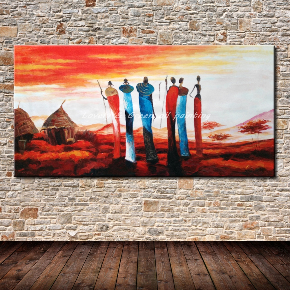 100 handgemalte poster wandkunst leinwand ölgemälde abstrakte gemälde african tribes wandbilder für wohnzimmer wand