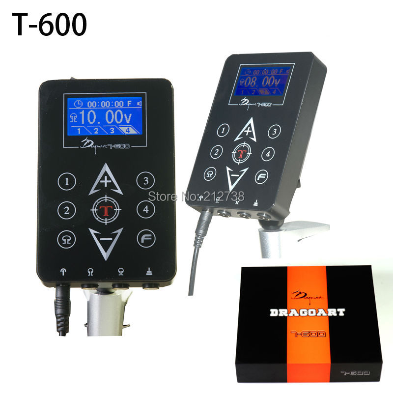 все цены на Newly Tattoo Power Supply LCD touchpad 4 Preset voltage memory Timer Function T-600 Free Shipping-C5 онлайн
