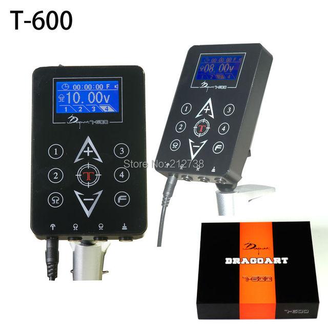 Недавно Источники питания для татуажа ЖК-дисплей TouchPad 4 предустановленных напряжения памяти таймер Функция T-600 Бесплатная доставка