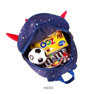Image 4 - Anti lost 3D Cartoon Rocket Children Backpack Kids Girls Boys School Bags Neoprene Toddler Baby Kindergarten Bag Space Capsule