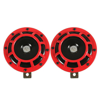 AUTO Supertone Dual Car Grille Horn Pair 12V 139dB For Subaru Impreza WRX Evo New Red