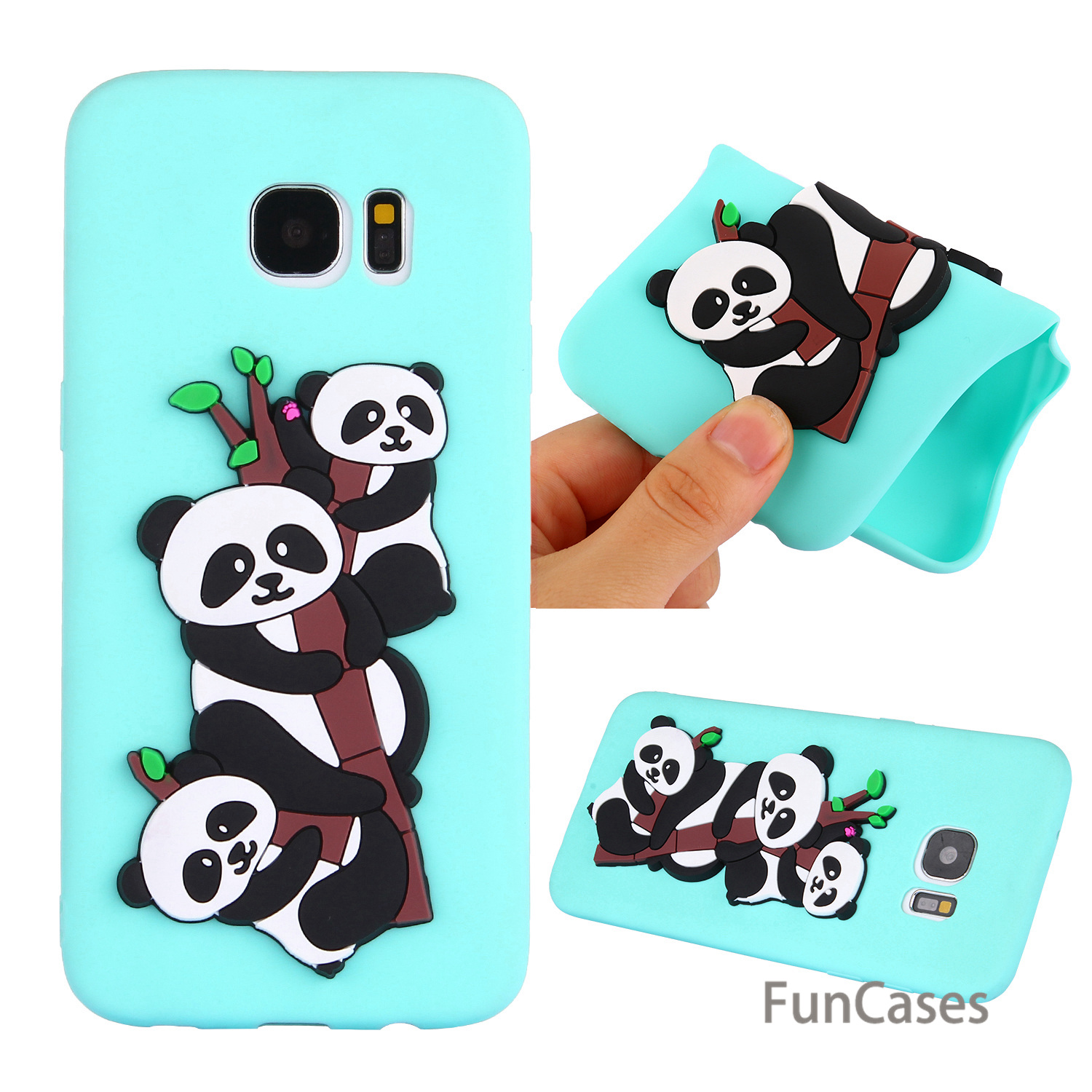 Lovely Panda Case sFor Cute Samsung S7 Edge Soft Silicone Back Cover Back Vintage Mobile Phone Case Samsung Galaxy S7 Edge