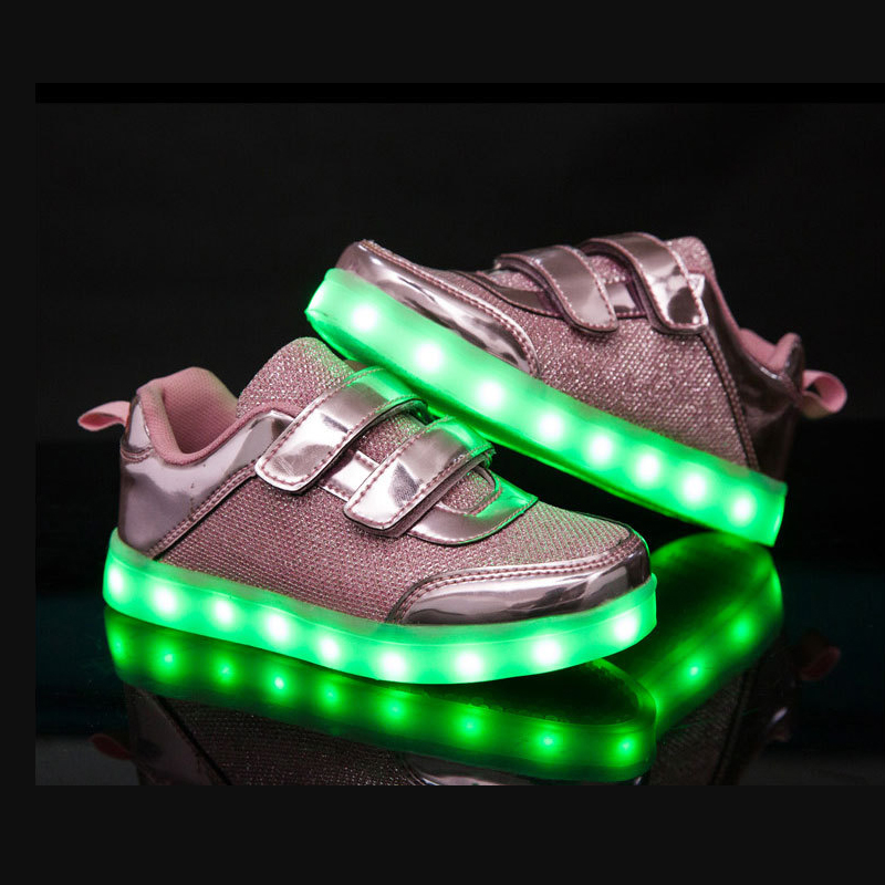 Girl Boy Shoes Usb Charging Kid Shoes Glowing Sneakers Light Up Shoes 3 Colors Fashion Luminous Sneakers For Girl Boys 2017 new usb charging glowing shoes kids led sneakers luminous lighted colorful led lights up children shoes boy girl shoes