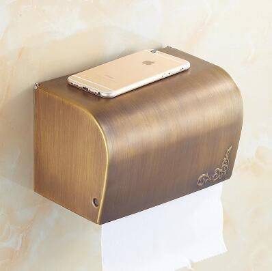 Bathroom waterproof tissue box holder, Antique brass toilet paper roll holder, 3 European style kitchen paper towel rack vintage retro kitchen toilet paper holder roll tissue holder bathroom accessories antique brass wall mount eu stock