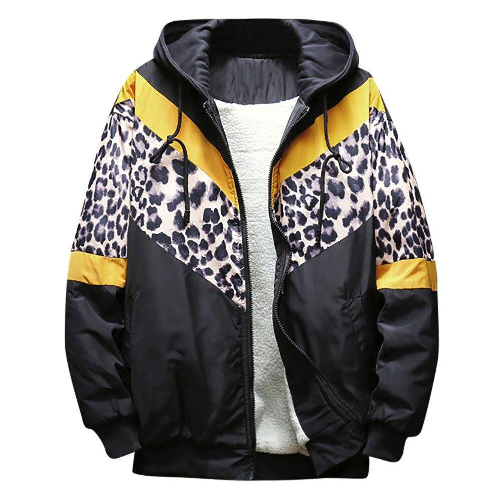 Heißer Leopard Druck Jacke Herren Luxus Barock Bomber Jacken