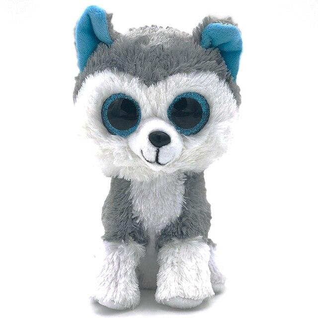 08d627c4e33 16cm Cute Stuffed Doll Ty Beanie Boos Animal Husky Dog Soft Big eyes beanie  boo Lovely